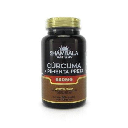Cúrcuma com pimenta preta 60 cápsulas de 650mg