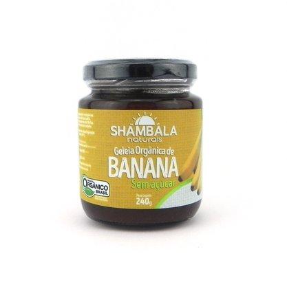 Geleia de banana orgânica sem açúcar 240g caixa com 12 un.