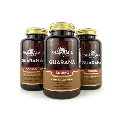 Kit 3 Guaraná 120 cápsulas de 500mg