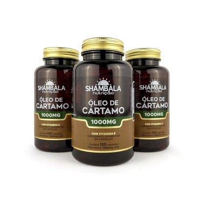Kit 3 Óleo de cártamo com vitamina E 120 cápsulas de 1000mg