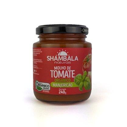 Molho de tomate orgânico com manjericão 240g caixa com 12 un.