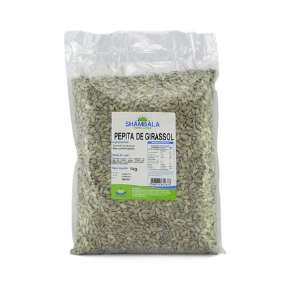 Pepitas de girassol semente sem casca crua 1kg