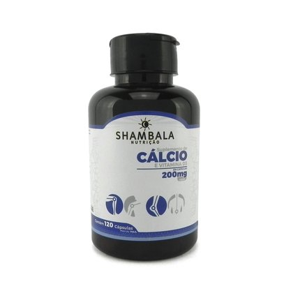 Suplemento de cálcio com vitamina D3 120 cápsulas de 200mg