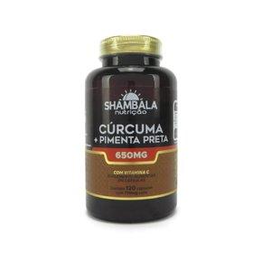 Cúrcuma com pimenta preta 120 cápsulas de 650mg